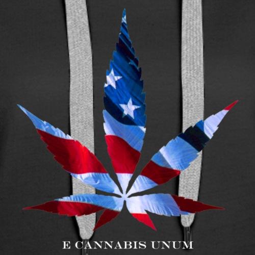 E Cannabis Unum - Proud American Marijuana Smoker - Women's Premium Hoodie