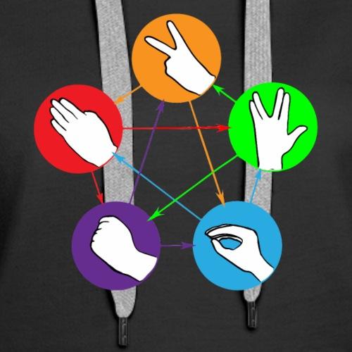 Nerd Rock Paper Scissors Lizard Shirt - Women's Premium Hoodie