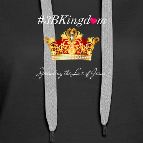 3bkingdom logo2 lg white - Women's Premium Hoodie