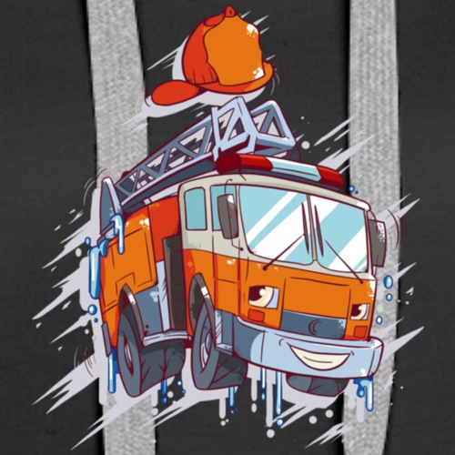 Fire Fighter Truck T Shirt - Women's Premium Hoodie