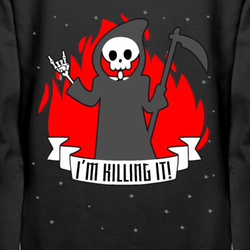 I'm killing it! Halloween Shirt Reaper T Shirt Tee - Women's Premium Hoodie