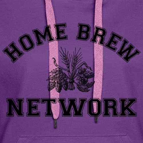 Home Brew Network Malt and Hops - Black - Women's Premium Hoodie