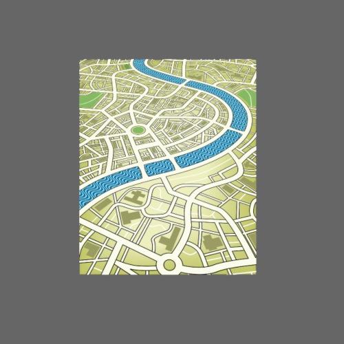 Green street map - Women's Premium Hoodie
