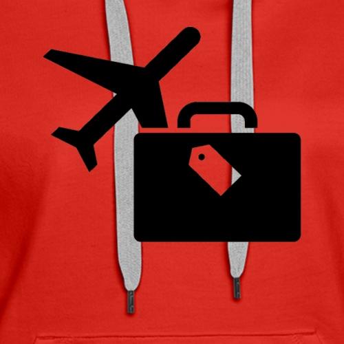 Airplane Luggage logo Icons Symbols Gift Shirt - Women's Premium Hoodie