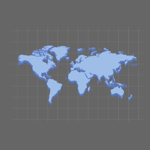 Blue Earth Map - Women's Premium Hoodie