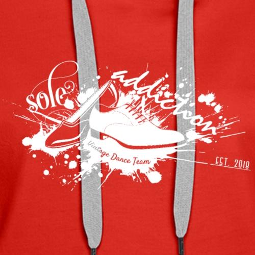 Sole Addiction Inverted / White Logo - Women's Premium Hoodie