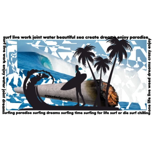 SURFING PARADISE - Women's Premium Hoodie