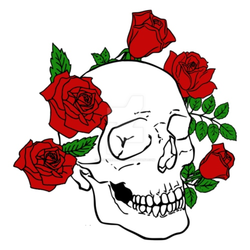 red flowers skull - Women's Premium Hoodie