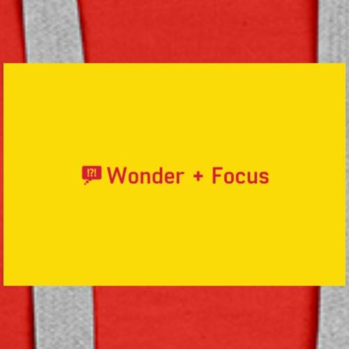 Wonder and Focus Simple Yellow - Women's Premium Hoodie