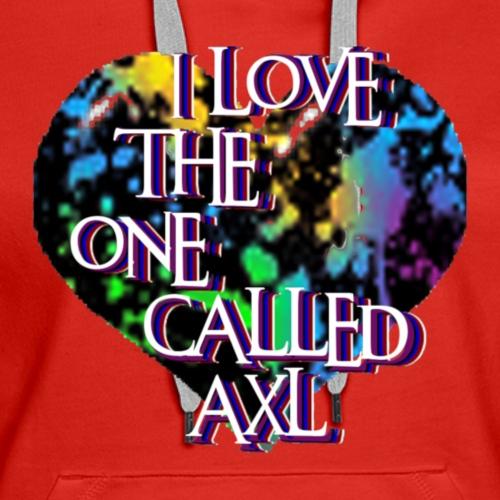I love Axl 1a - Women's Premium Hoodie