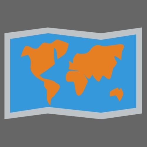 Blue Orange map fold - Women's Premium Hoodie