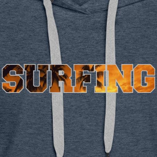 Surfing IV - Women's Premium Hoodie