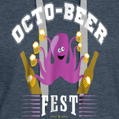 Octo-Beer Fest Drunk Octopus - Funny Drinking T-Sh - Women's Premium Hoodie
