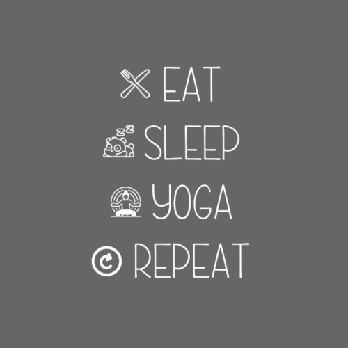 Eat Sleep Yoga Repeat - Women's Premium Hoodie