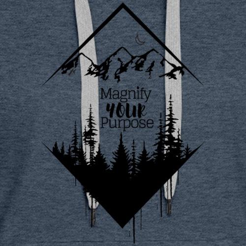 Half Moon Mountains over Forest Dark 2 - Women's Premium Hoodie