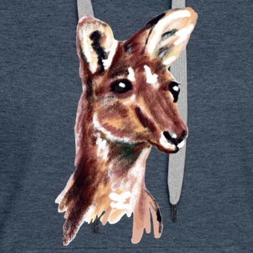 kangaroo face - Women's Premium Hoodie