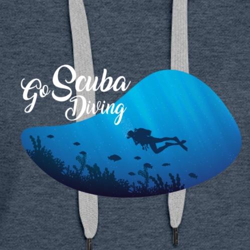 GO SCUBA Diving/Tauchen/busseig/Mergulho/Buceo - Women's Premium Hoodie