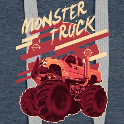 Monster Truck Illustration T Shirt - Women's Premium Hoodie