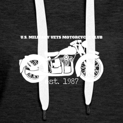 U.S. Military Vets Motorcycle Club - Vintage Bike - Women's Premium Hoodie