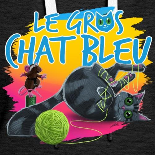 Le Gros Chat Bleu et Bully - Molleton à capuche Premium pour femmes