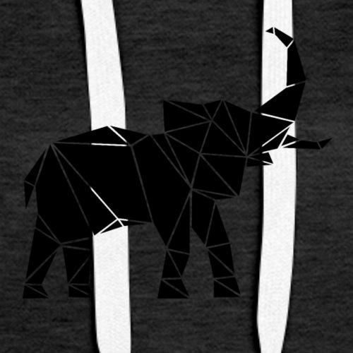Lowpoly lephant - Women's Premium Hoodie