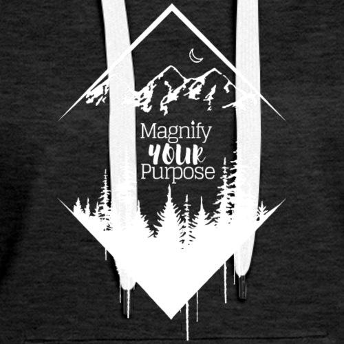Half Moon Mountains over Forest Light - Women's Premium Hoodie