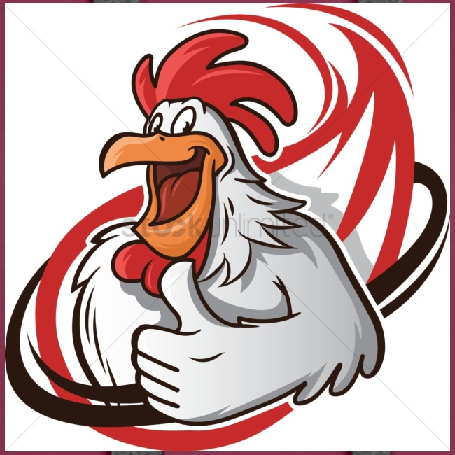 cartoon chicken with a thumbs up 1514989