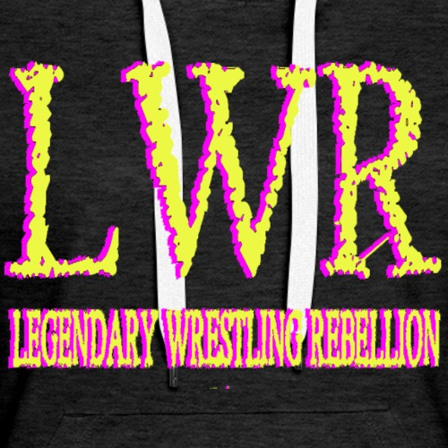 LWR Pink and YELLOW Logo - Women's Premium Hoodie