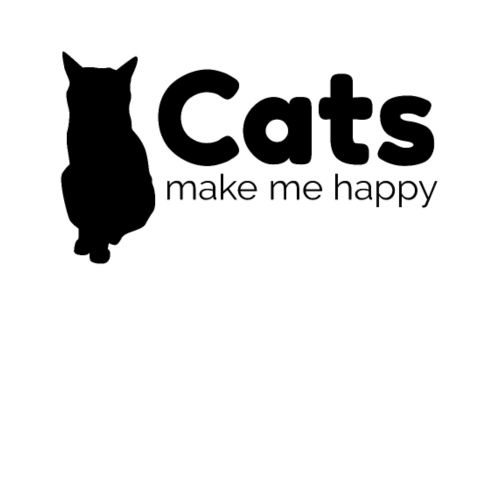 Cats make me happy black - Women's Premium Hoodie