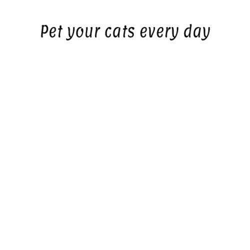 Pet your cats every day black - Women's Premium Hoodie