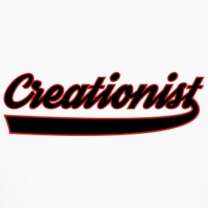 Creationist black white - Kids' Long Sleeve T-Shirt