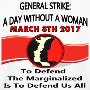 General Strike March 3-8-17 A Day Without A Woman - Kids' Long Sleeve T-Shirt