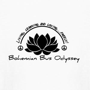 Bohemian Bus Odyssey Logo black - Kids' Long Sleeve T-Shirt
