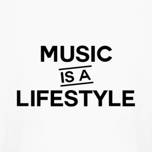 Music is a Lifestyle Design - Kids' Long Sleeve T-Shirt