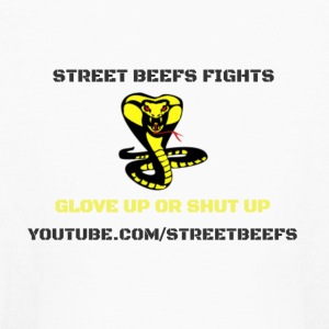 STREET BEEFS FIGHTS LOGO BLACK ON WHITE - Kids' Long Sleeve T-Shirt
