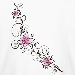 Floral element with pink flowers. - Kids' Long Sleeve T-Shirt