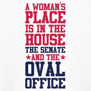 A Woman's Place Is In The House Senate and OOval O - Kids' Long Sleeve T-Shirt