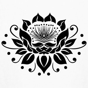 Large lotus flower in tattoo style. - Kids' Long Sleeve T-Shirt