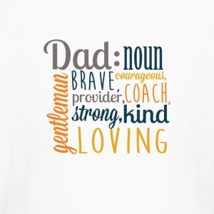 Definition of DAD - Father's Day Graphic T-shirt - Kids' Long Sleeve T-Shirt