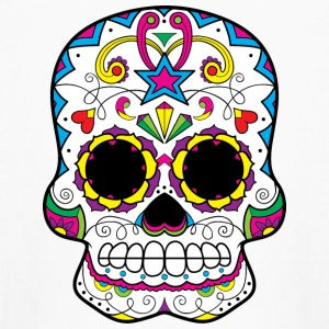 sugar_skull_with_star - Kids' Long Sleeve T-Shirt