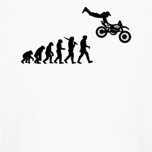 Evolution of a Biker - Kids' Long Sleeve T-Shirt