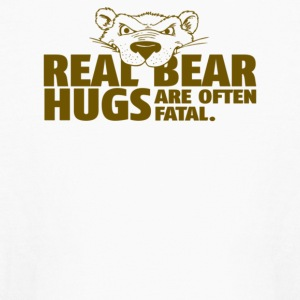Real Bear Hugs Are Often Fatal - Kids' Long Sleeve T-Shirt