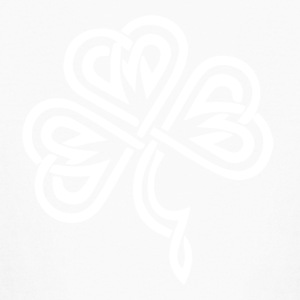 Celtic Shamrock White - Kids' Long Sleeve T-Shirt