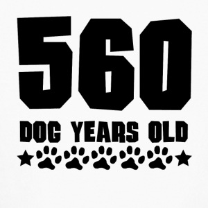 560 Dog Years Old Funny 80th Birthday - Kids' Long Sleeve T-Shirt