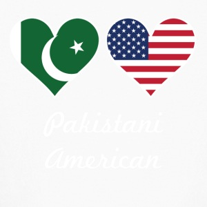 Pakistani American Flag Hearts - Kids' Long Sleeve T-Shirt