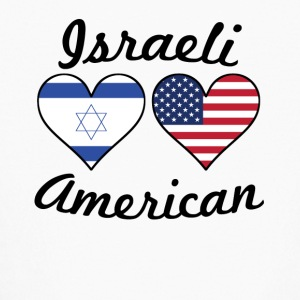 Israeli American Flag Hearts - Kids' Long Sleeve T-Shirt