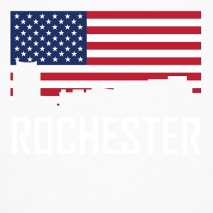 Rochester Minnesota Skyline American Flag - Kids' Long Sleeve T-Shirt
