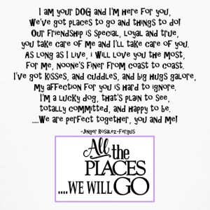I am your dog FNL BACK purple copy - Kids' Long Sleeve T-Shirt
