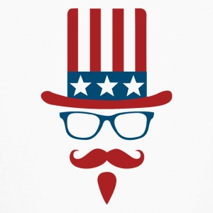 Uncle sam glasses and mustache - Kids' Long Sleeve T-Shirt