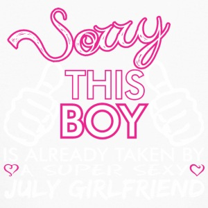 Sorry This Boys Already Taken By July Boyfriend - Kids' Long Sleeve T-Shirt
